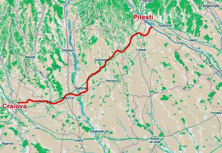 Lotul 3 din Drumul Expres Craiova-Piteşti intră în execuție