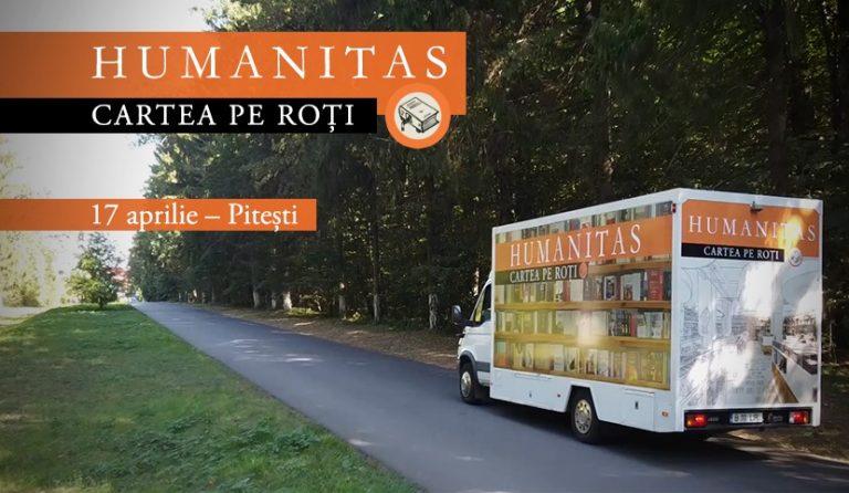 """Librăria Humanitas """"Cartea pe roți"""" poposește la Pitești"""