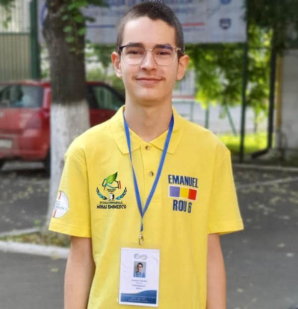 Piteșteanul Emanuel Mazăre – medalie de aur la Balcaniada de Matematică