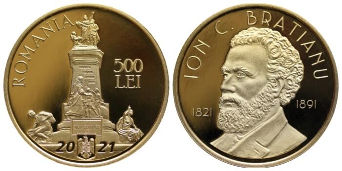 BNR lansează o monedă de aur la 200 de ani de la nașterea lui Ion C. Brătianu